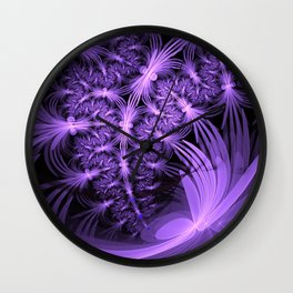 Purple dragonflies Abstract Wall Clock