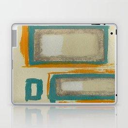 Soft And Bold Rothko Inspired - Corbin Henry Modern Art - Teal Blue Orange Beige Laptop & iPad Skin