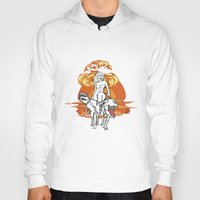 dinosaurs Hoodies featuring Dinosaurs Girl by Forlife Illustration