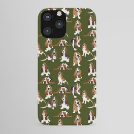 Basset Hounds on Moss iPhone Case