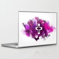 cross Laptop & iPad Skins featuring cross by melazerg