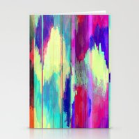 glitch Stationery Cards featuring Glitch by James McKenzie