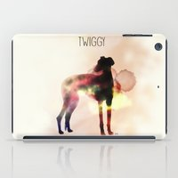 greyhound iPad Cases featuring Twiggy greyhound by Ingrid Winkler