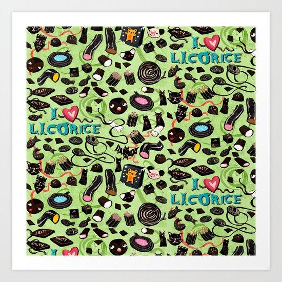 Licorice pattern Art Print
