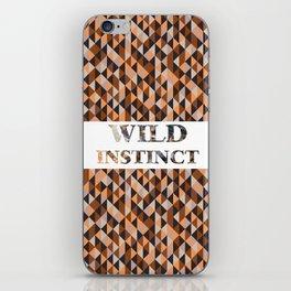 wild instinct suede iPhone Skin