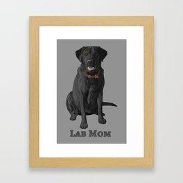 Dog Mom Black Labrador Retriever Framed Art Print