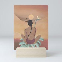 Watching the Sunset Mini Art Print