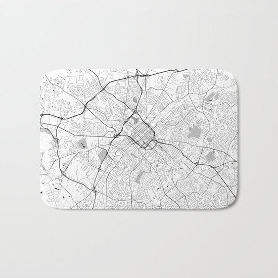 Charlotte Map Gray Bath Mat