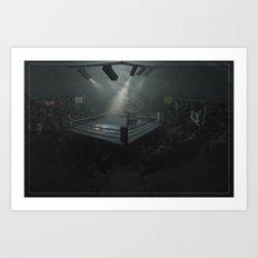 Champion Wrestler Art Print