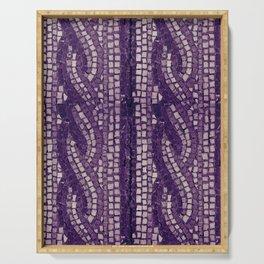 stone tile 4378 ultra violet Serving Tray