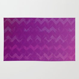 Magenta Jewel Tone and Chevrons Rug