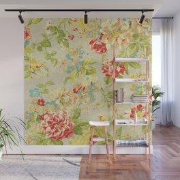 Rose Bird Floral Spring Wall Mural