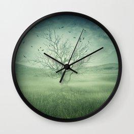 Spooky meadow Wall Clock