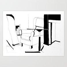 Black and white interior Art Print