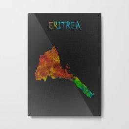 Map Of Eritrea Metal Print