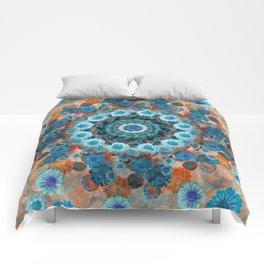 Happy orange background Comforters