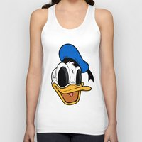 donald duck Tank Tops featuring Donald Duck the Creep by Daniel Hannih