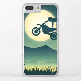 Moon Rider Clear iPhone Case