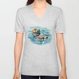 Otter Unisex V-Neck