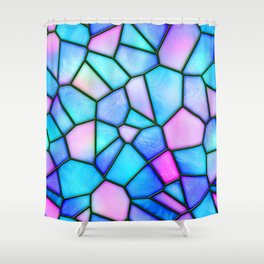 pastel stained glass Shower Curtain
