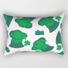 Retro Vintage St Patricks Day Green Leprechaun Rectangular Pillow