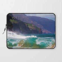 Napali Crashing Waves - Kauai Northshore Laptop Sleeve