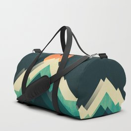 Ablaze on cold mountain Duffle Bag