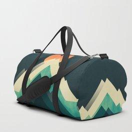 Ablaze on cold mountain Duffle Bag