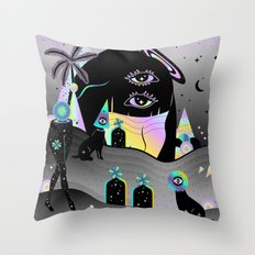One night on Jupiter Throw Pillow