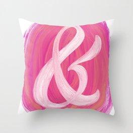 Thick Swirl Ampersand Warm Throw Pillow