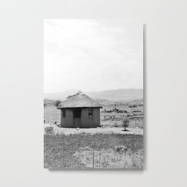Mud Hut Metal Print