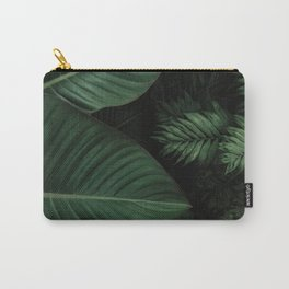 Tropical Beauty // Tropical Boho Leaves meets Minimalist Patterns Carry-All Pouch