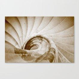 Sand stone spiral staircase 9 Canvas Print