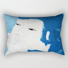 Blue Purin Rectangular Pillow