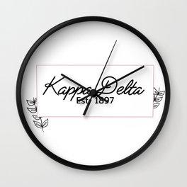 Floral KD Wall Clock