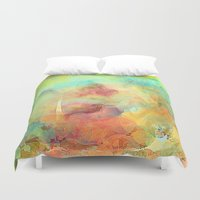 guardians Duvet Covers featuring The Guardians Abstract by Jessielee