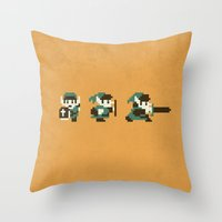 the legend of zelda Throw Pillows featuring The Legend of Zelda by Brandon Riesgo