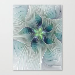 A Floral Fantasy, Abstract Fractal Art Canvas Print