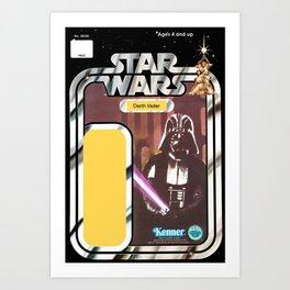 Darth Vader Vintage Action Figure Card Art Print