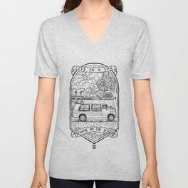 Live In A Van, Down By The River Unisex V-Neck