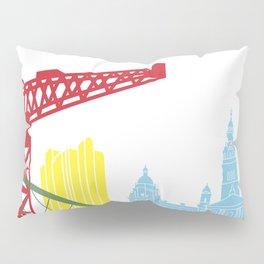 Glasgow skyline pop Pillow Sham
