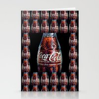 coca cola Stationery Cards featuring The Real... by LesImagesdeJon