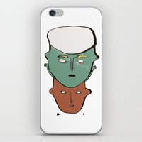 talking heads iPhone & iPod Skins featuring Heads by KSKS