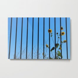 Flower Jail Metal Print
