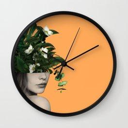 Lady Flowers Vlll Wall Clock