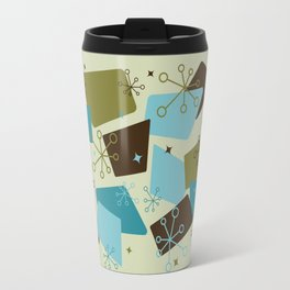 Mid Century Modern Futuro (teal) Travel Mug