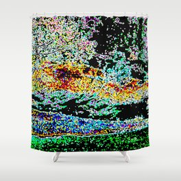 Day to Night Shower Curtain