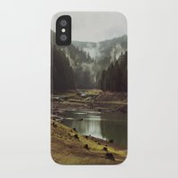 oregon iPhone & iPod Cases featuring Foggy Forest Creek by Kevin Russ