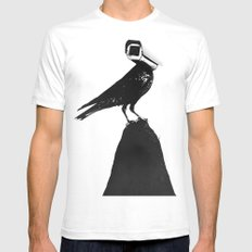 The Lookout White MEDIUM Mens Fitted Tee