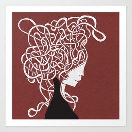 Iconia Girls - Ella Marsala Art Print